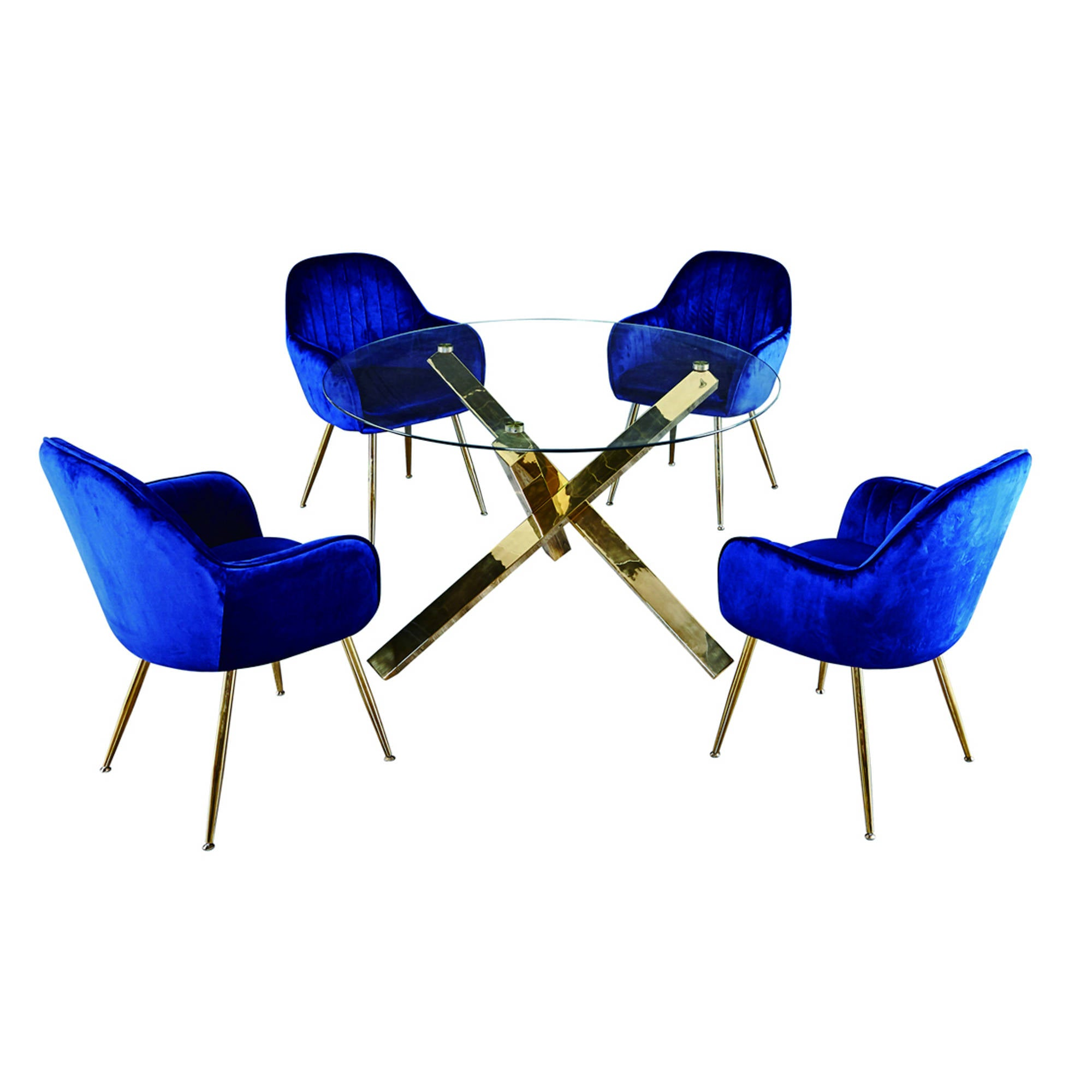 Lares Chair in Royal Blue - Ezzo