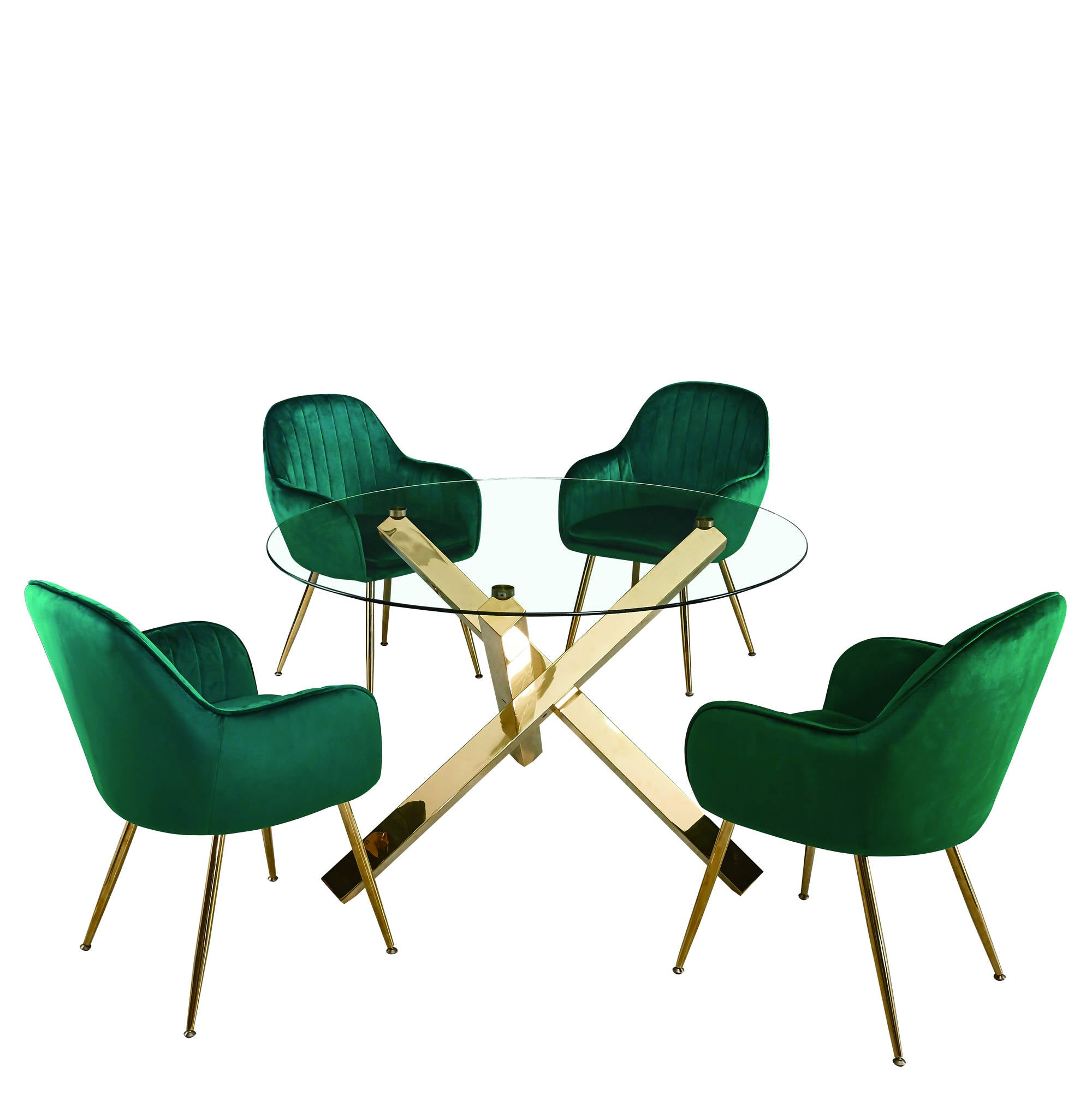 Lares Chairs in Forest Green