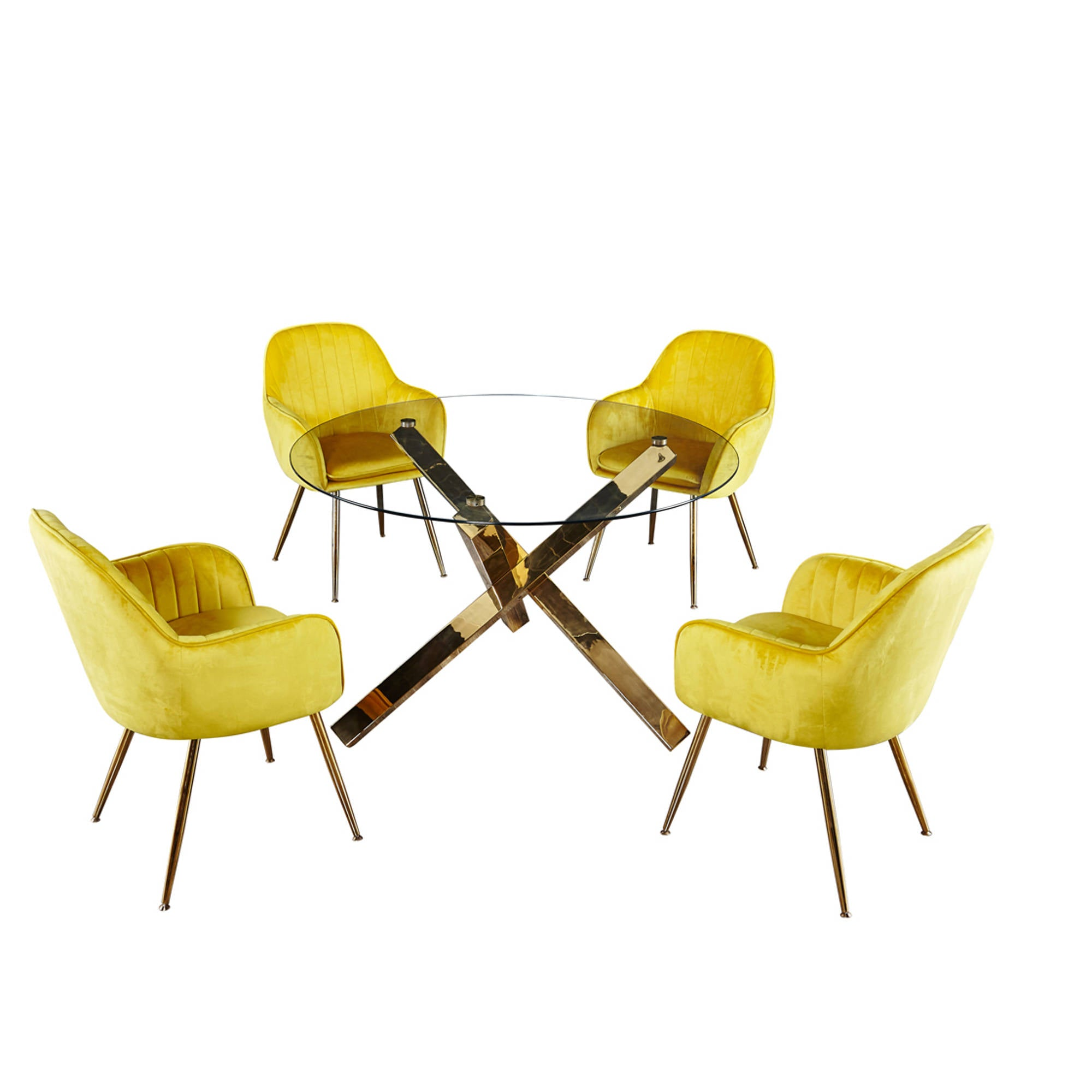 Lares Chairs in Ochre Yellow - Ezzo