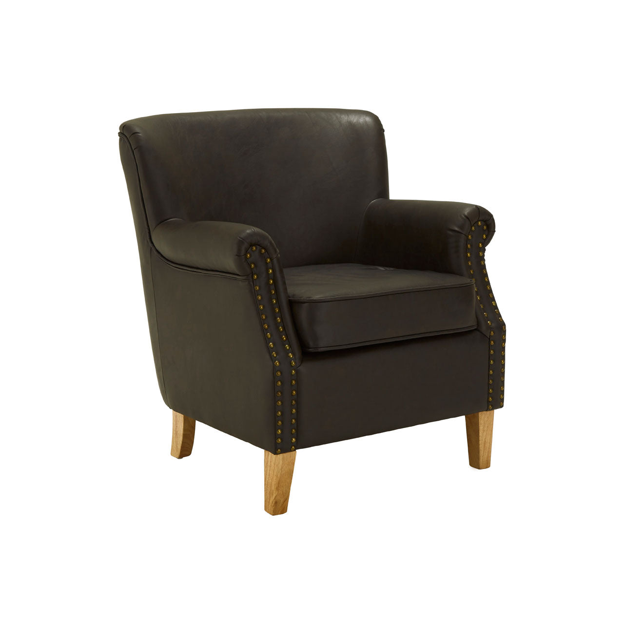 Trinity Armchair in Brown Leather