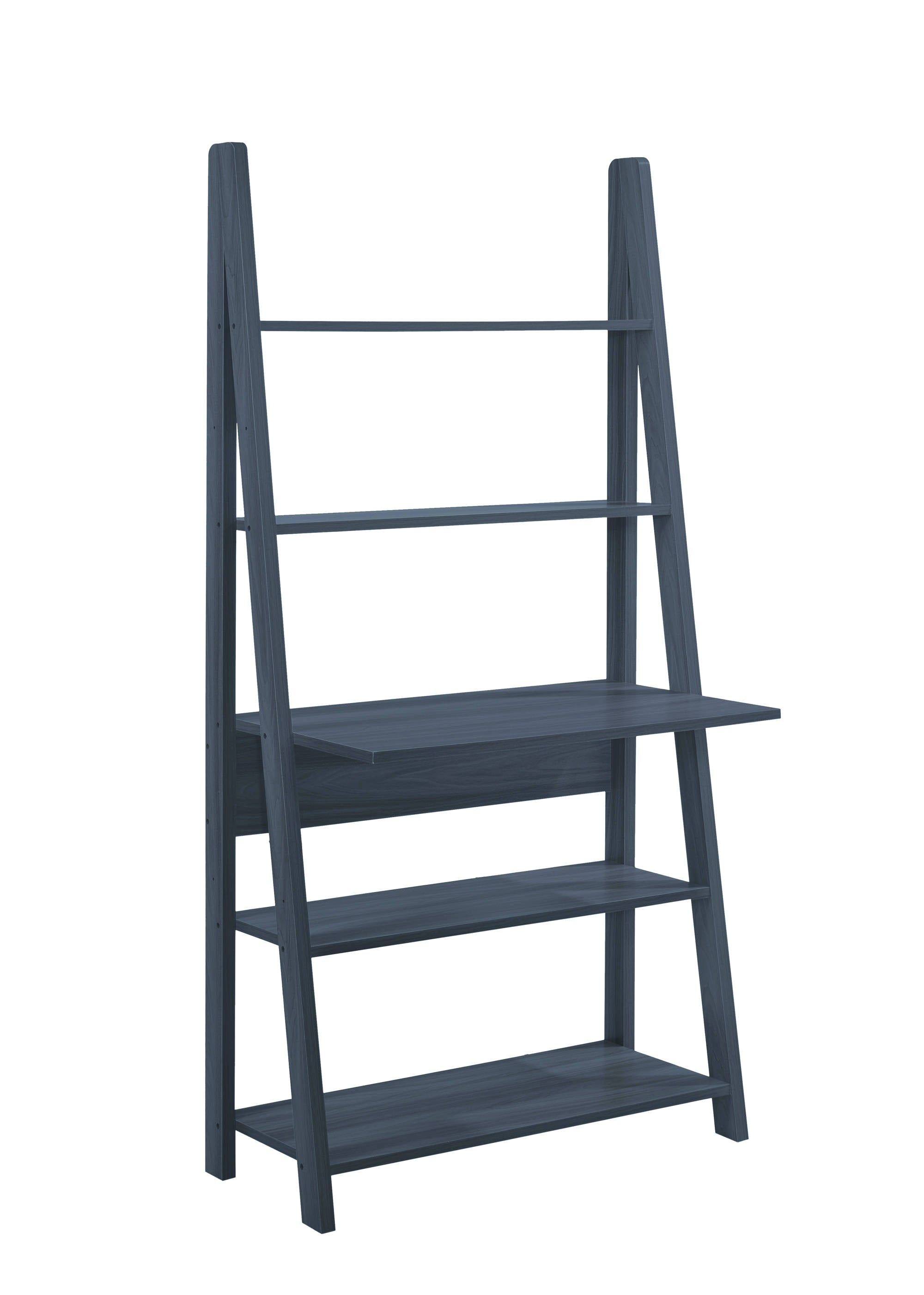 Turan Ladder Computer Desk Black - Ezzo