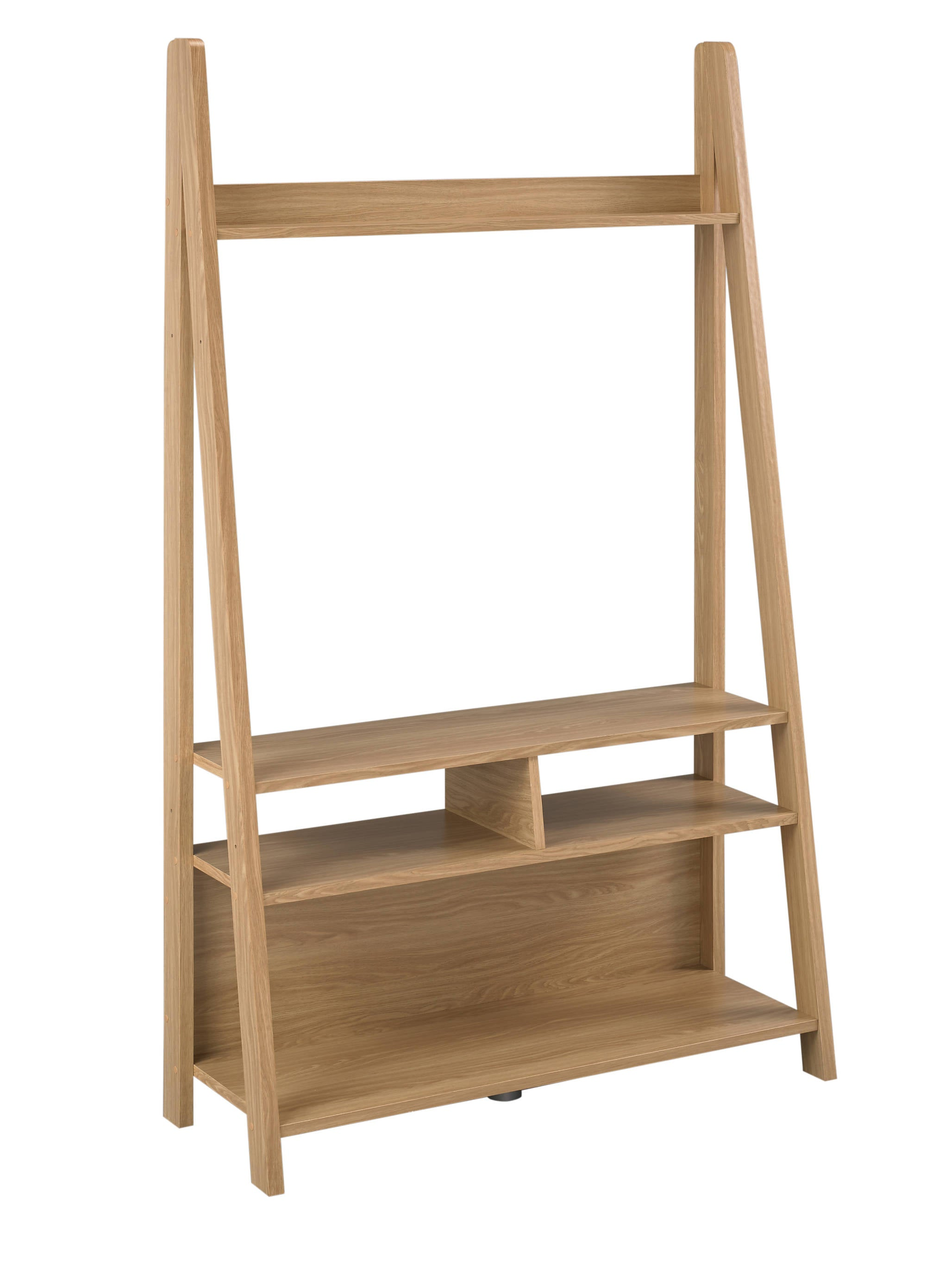 Turan Ladder Entertainment Unit Oak