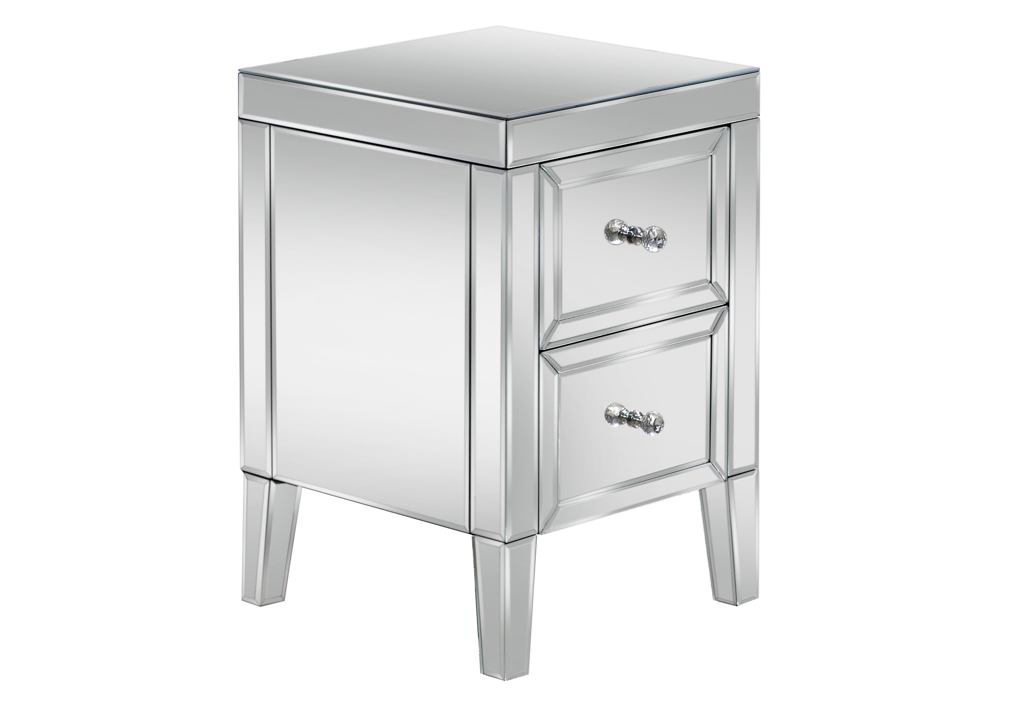 Turia 2 Drawer Bedside Table - Ezzo