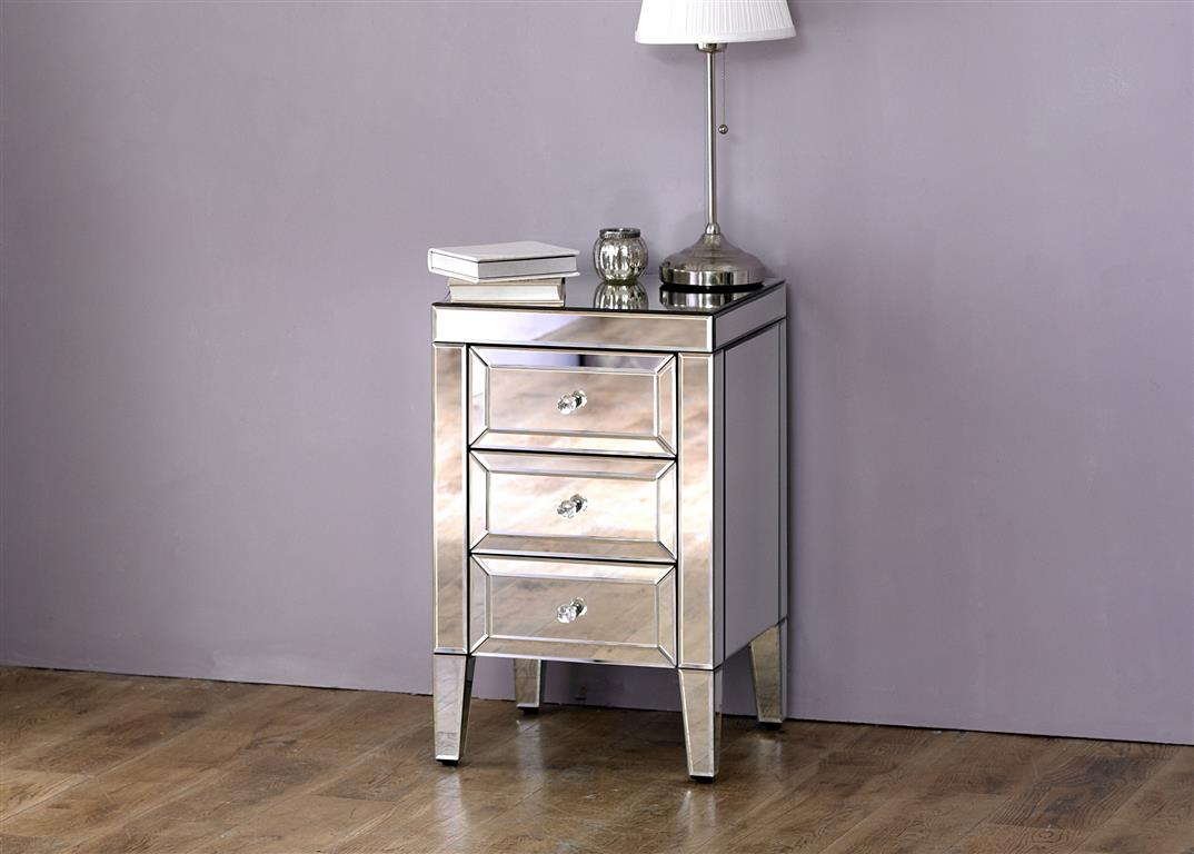 Turia 3 Drawer Bedside Table