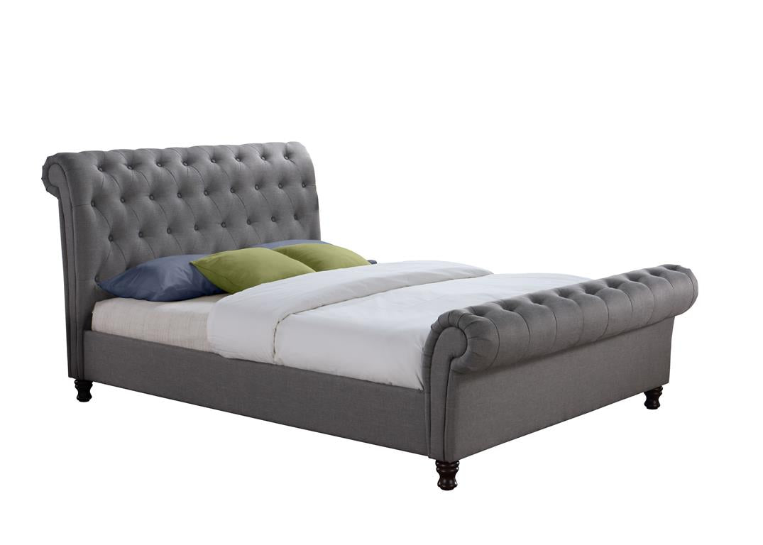 Venice Double Bed in Grey