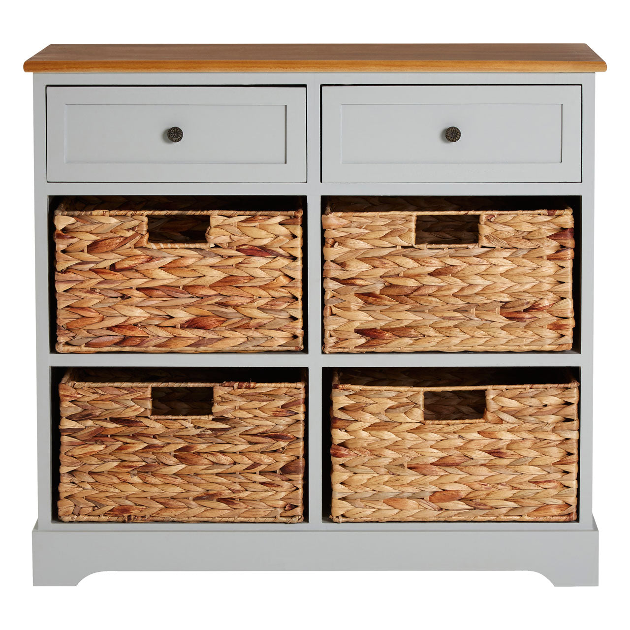 Vermont Grey 6 Drawer Cabinet