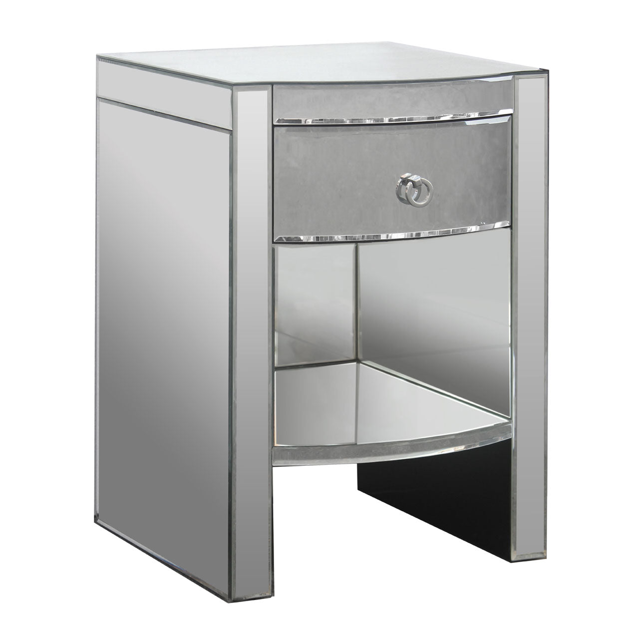 Verona Curved Bedside Table