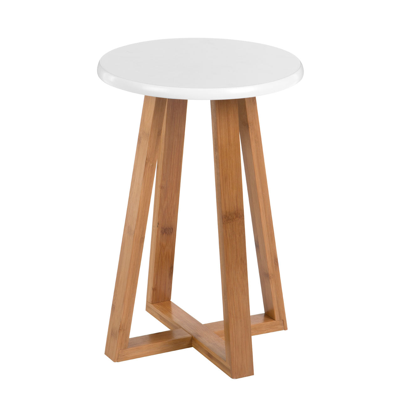 Viborg Round Stool in White