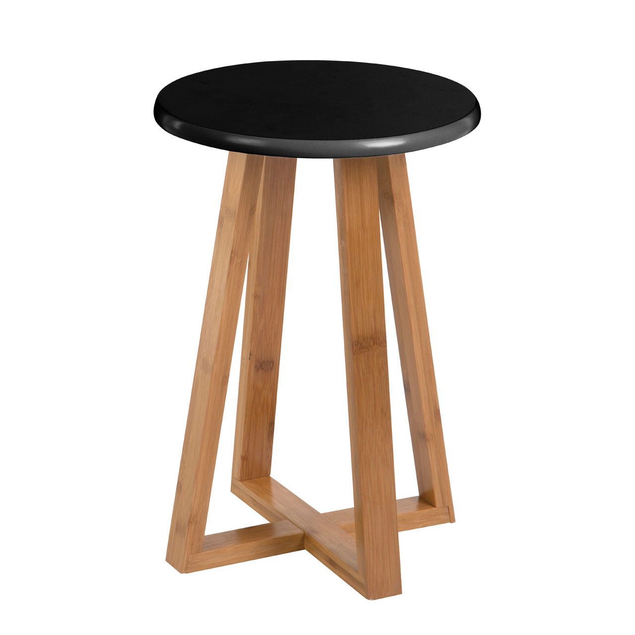 Viborg Round Stool in Black