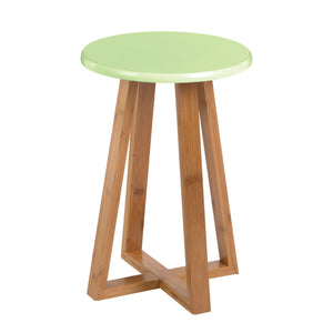 Viborg Round Stool in Green