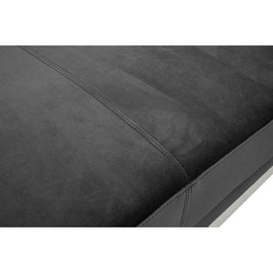 Vogue 3 Seat Black Velvet Sofa
