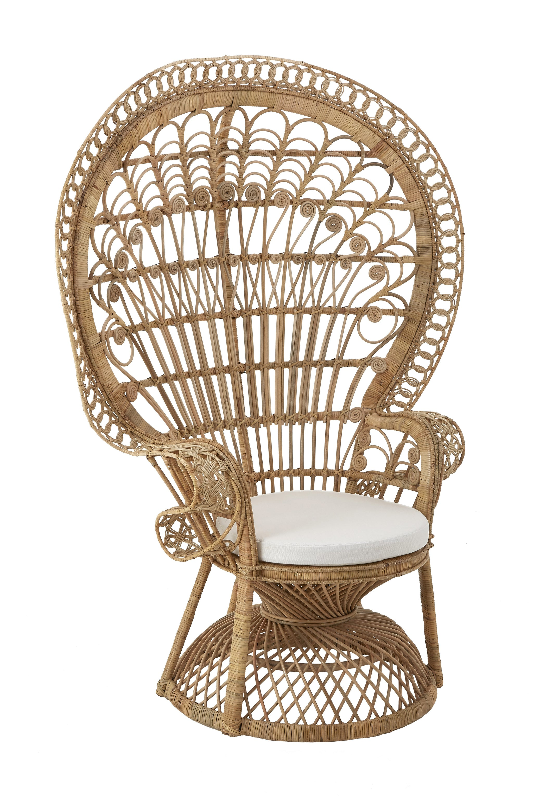 Woodstock Peacock Rattan Chair Natural