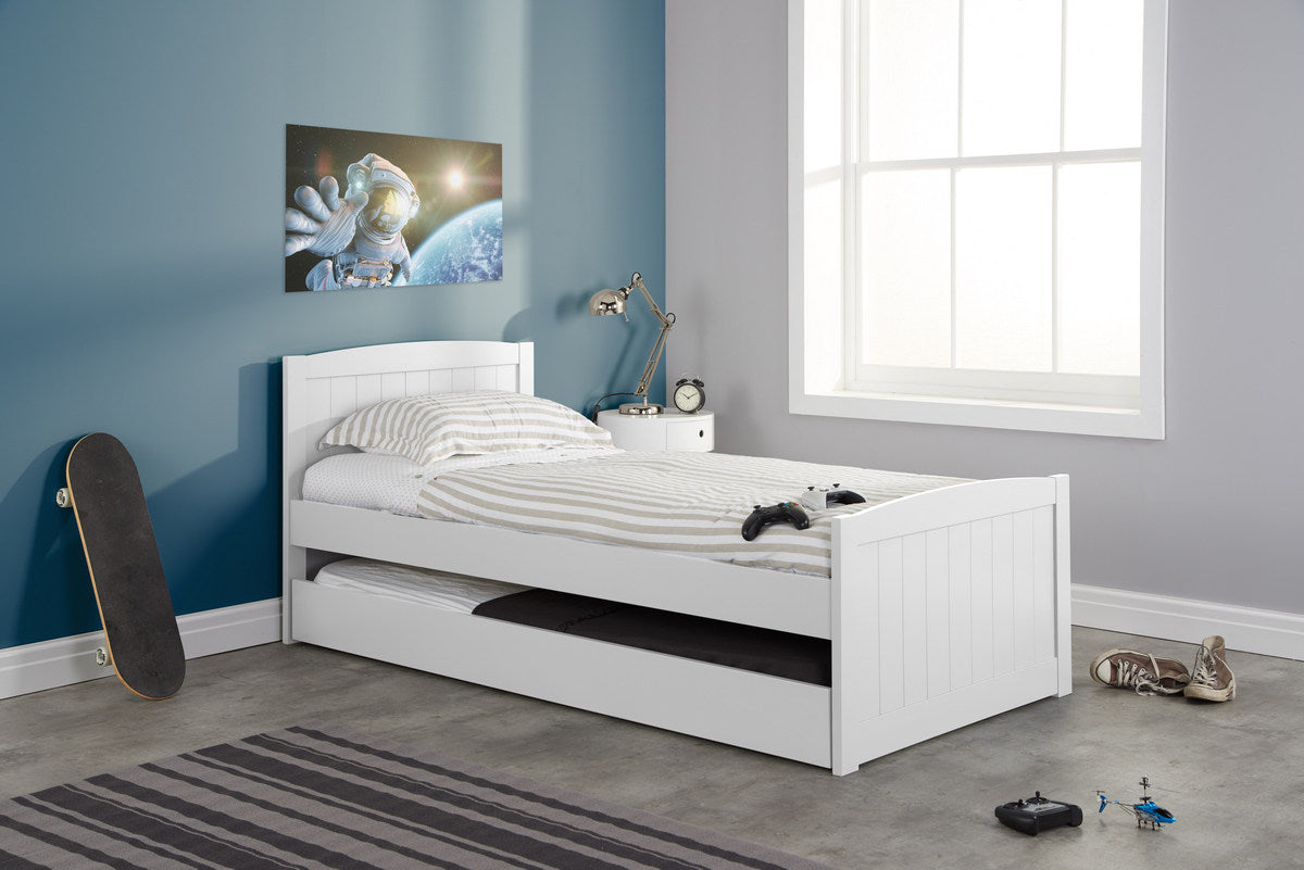 Woolwich Trundle Bed in White - Ezzo