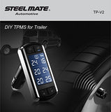 Steelmate DIY TP-V2  | 6 Wheel External TPMS for 4-wheel Vehicle/+Trailer