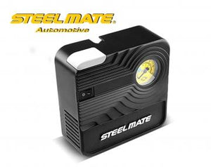 Steelmate Automotive 12V DC Automotive Portable Air Compressor Pump Tire Inflator for Car Bicycle Ball Inflatables