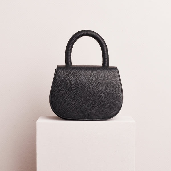 WEAVED SATCHEL - BLACK