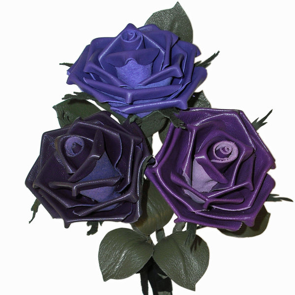 Purple leather roses