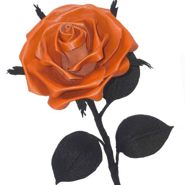 Orange leather rose