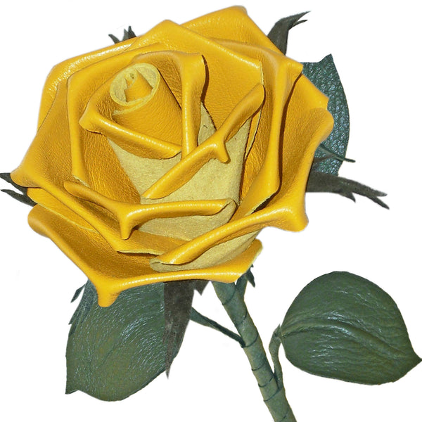 Yellow leather rose