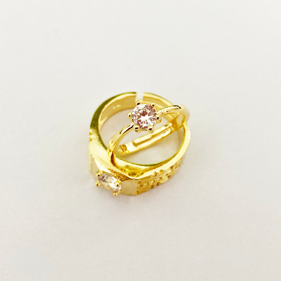 18k Gold plated Couple rings.