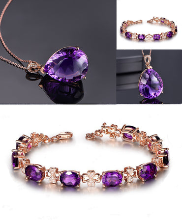HIGH QUALITY LUXURY GOLD PLATED CHAIN PENDANT AND BRACELET