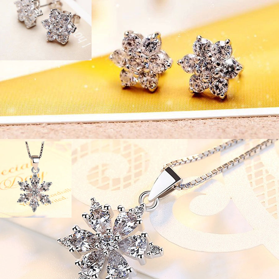 HIGH QUALITY LUXURY WEAR PLATINUM PLATED ZIRCON CHAIN PENDANT  EARRINGS!!