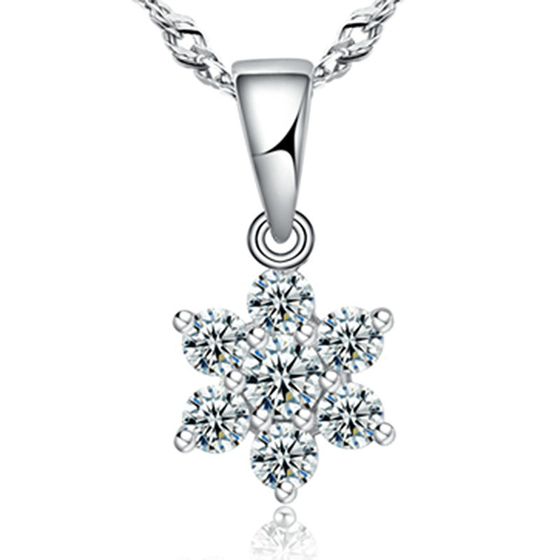 HIGH QUALITY LUXURY WEAR PLATINUM PLATED ZIRCON PENDANT CHAIN NECKLACE! - Lexception