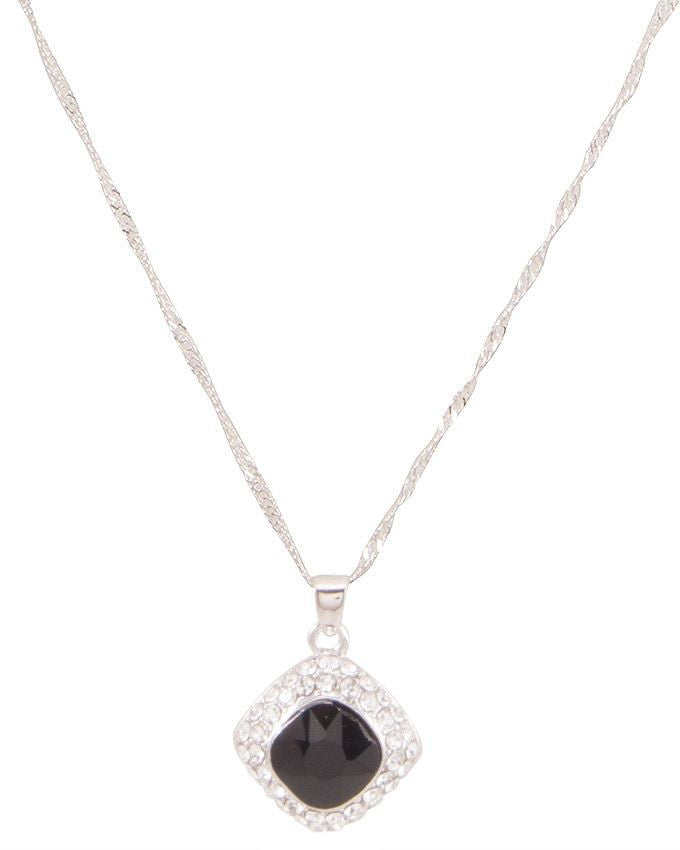 Zircon silver plated pendant necklace - Lexception
