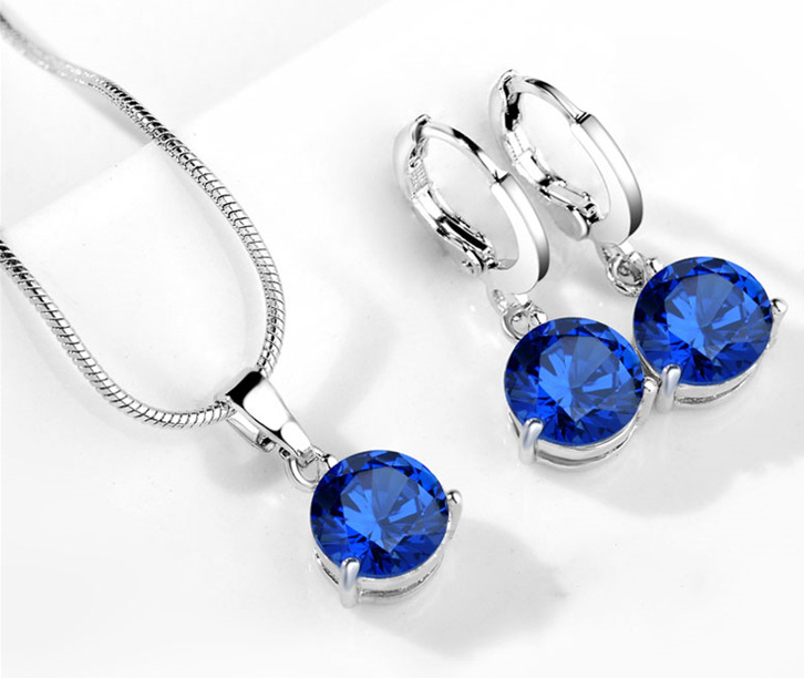 High quality platinum plated ZIRCON SET