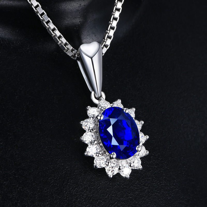 HIGH QUALITY LUXURY WEAR PLATINUM PLATED ZIRCON PENDANT CHAIN NECKLACE!