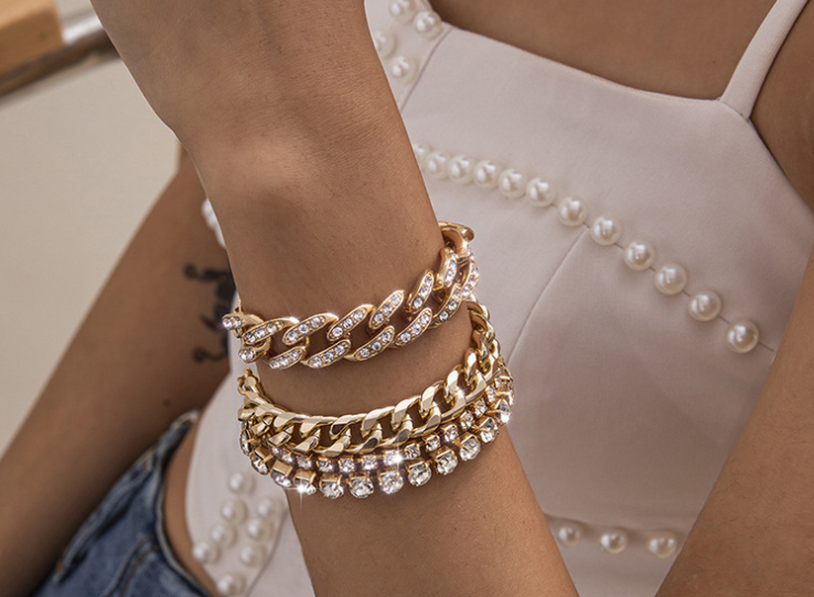 Luxury bracelet set Trendy wear complete set