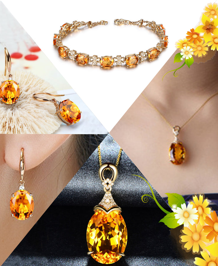 HIGH QUALITY LUXURY WEAR GOLD PLATED ZIRCON PENDANT CHAIN NECKLACE, BRACELET & EARRINGS