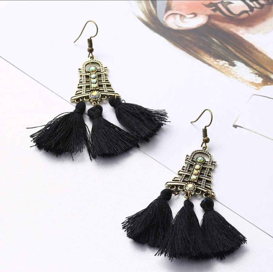 FUNKY STYLE DROP DOWN EARRINGS