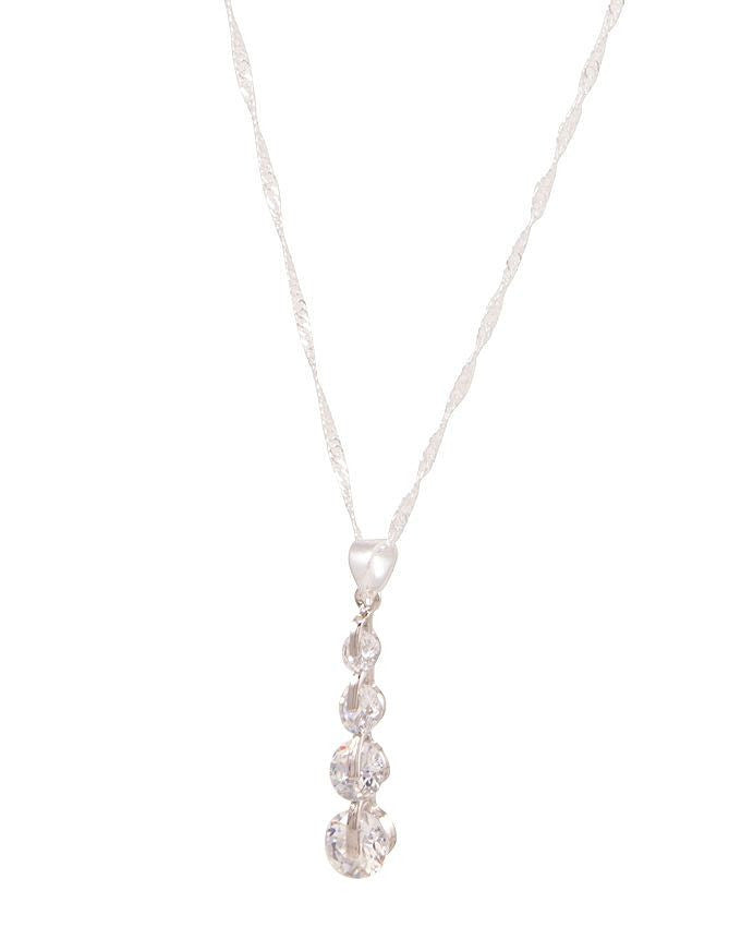 link chain silver plated necklace