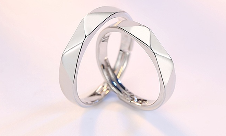 platinum plated couple rings both rings adjustable!