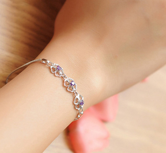 HIGH QUALITY LUXURY WEAR PLATINUM PLATED ZIRCON BRACELET