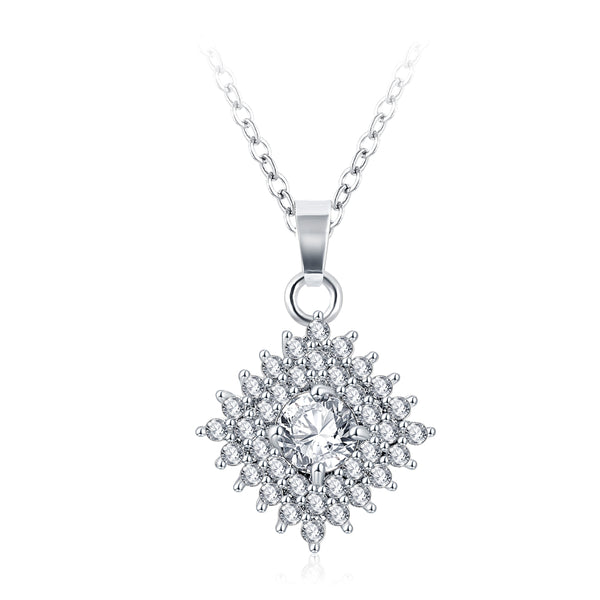 high quality platinum plated zircon chain necklace!