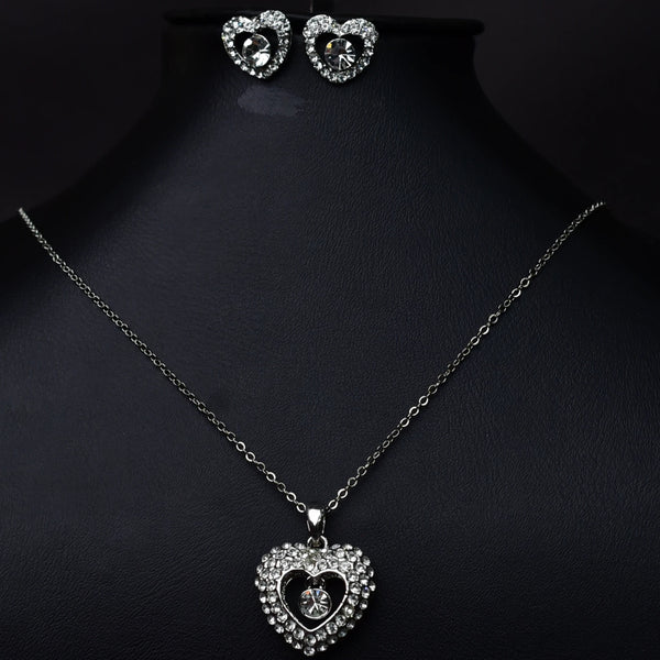 HIGH QUALITY 18K PLATINUM PLATED ZIRCON AUSTRIAN CRYSTALS JEWELRY SET