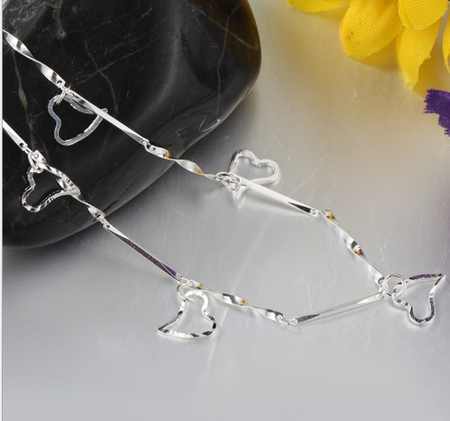 High quality platinum plated zircon stones anklet!
