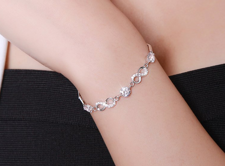 Third generation love bracelet silver plated!