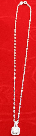Original 925 sterling silver (chaandi) necklace with chain! - Lexception