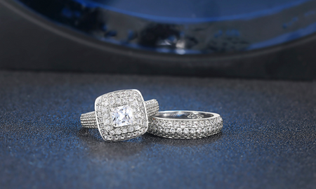 PLATINUM PLATED RING SET OF 2.