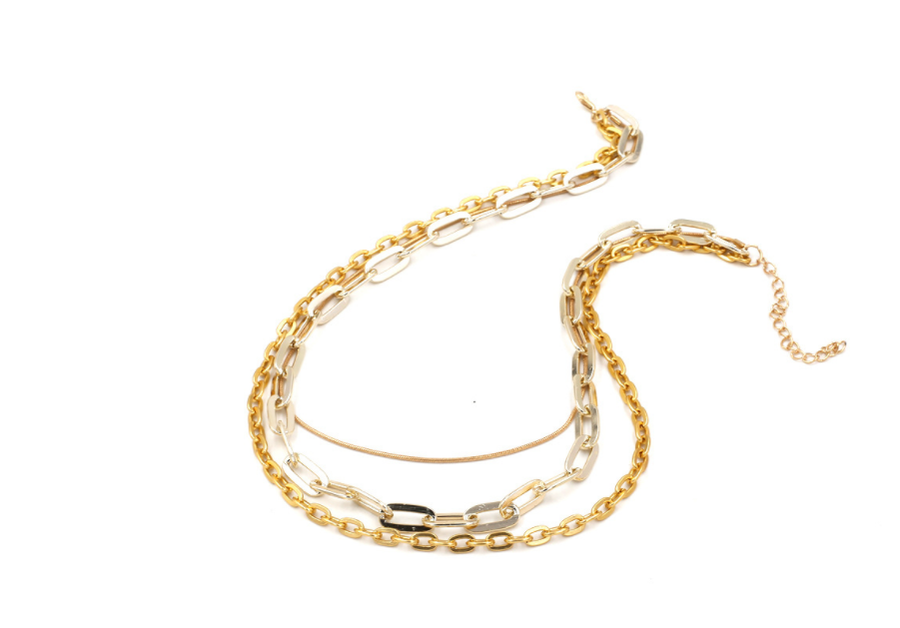 Three layered high quality choker necklace