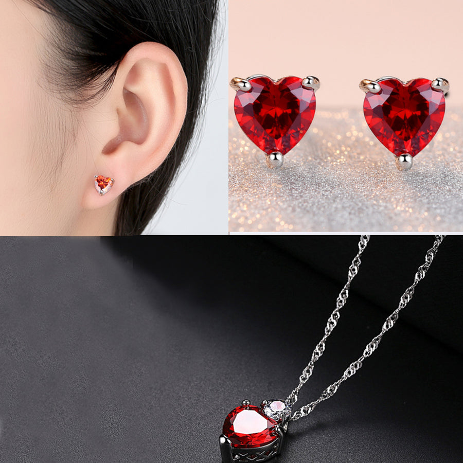 HIGH QUALITY ZIRCON CHAIN PENDANT AND EARRINGS!