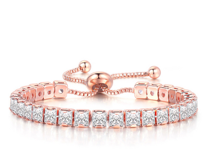 high quality rose gold plated zircon bracelet!