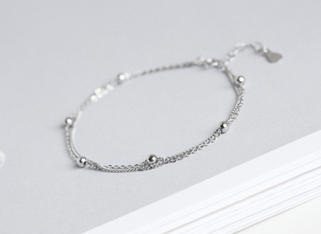 HIGH QUALITY PLATINUM PLATED ZIRCON BRACELET