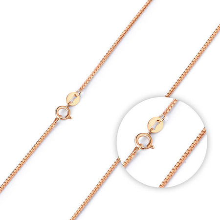Rose gold plated pendant chain