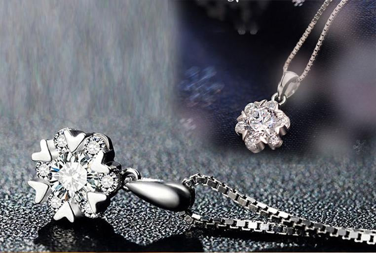 EXCLUSIVE ZIRCON PENDANT CHAIN NECKLACE LUXURY QUALITY