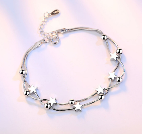 Star Square Link Chain Bracelet - Lexception