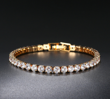 Rose gold plated zircon bracelet!